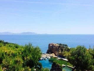 Villa - Vue sur la mer - Calanque de la Madrague de Gignac