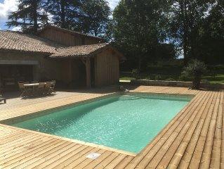 Magnifique maison de campagne de 400m2 sur un parc de pres de 1 ha avec piscine