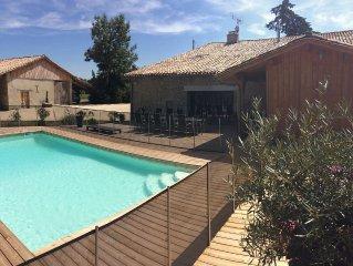 Magnifique maison de campagne de 400m² sur un parc de près de 1 ha avec piscine