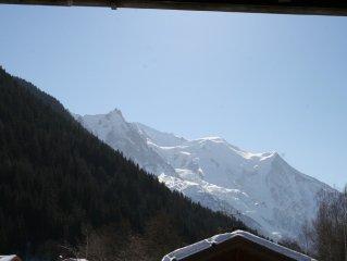 Appartement dans chalet au calme face au Mont-Blanc,proche des Grands Montets.