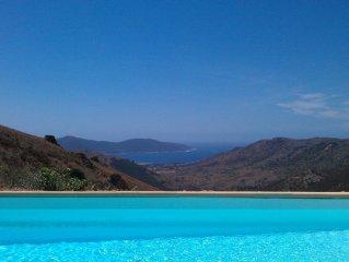 Villa tout confort au calme vue imprenable sur mer
