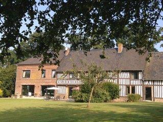 3 Chambres d hotes dans une magnifique et luxueuse propriete en Normandie ..
