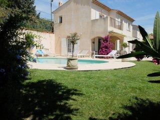 Belle Villa situee a cagnes-sur-mer,  pour 8 persones avec piscine