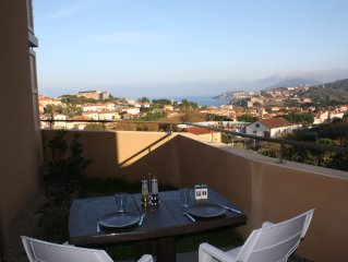 Appartement neuf Collioure terrasse vue mer panoramique