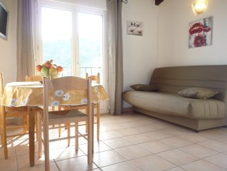 Apartment any comfort, large terrace and stunning sea view town