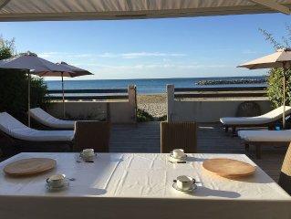 carnon plage appartement spacieux et moderne en première ligne, bord de mer