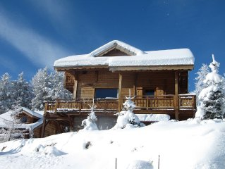 Individual luxury chalet sleeps 10
