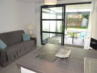 New apartment on the ground floor with garden, quiet in Le Conquet