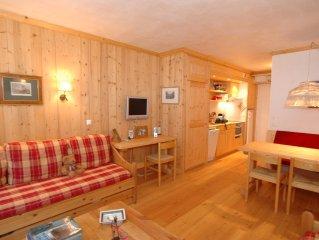 Appartement 37m² refait à neuf, parking couvert, casier à ski, pied des pistes