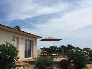 Villa 6 personnes ,jardin, Clim wifi,a 2 minutes des plages