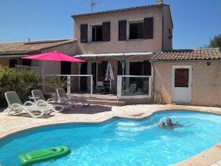 maison provençale clim piscine privée chauffée label 3 Etoiles 2 chambres