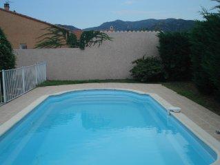 Villa 8 pers. 3 ch. Piscine privee chauffee sans vis-a-vis