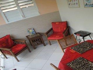 Beautiful apartment near the beach in Deshaies