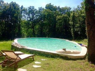 Authentique lodge au milieu des bois avec piscine et hammam privatifs