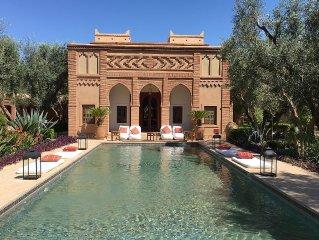 Le Palais Tafoukt :2 magnifiques Riads au milieu d'un immense jardin d'Eden .