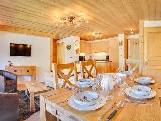 Spacieux, chaleureux et confortable appartement pour 6 personnes