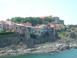 la maison vue depuis la mer...