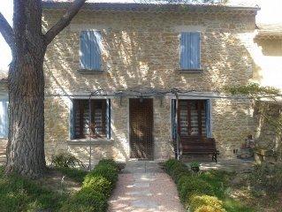 Provence, Maison en pierres, Terrasse et Jardin Ombrages