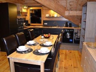 GITE neuf 60 m2-4P-confort-jardin BBQ-Piscine ete. Entree privative. Calme !