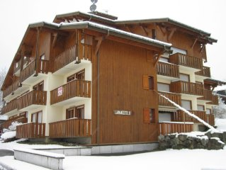 LES CONTAMINES - Appt 2 pieces plus cabine -  Centre village