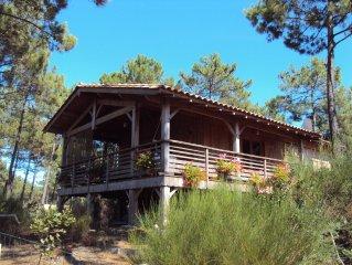 Maison en bois proche de l'océan dans lotissement clos. Classée 3 étoiles