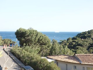 Appartement 4* , terrasse vue mer, proche plage, calme 6-8 p, standing