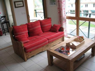 Appartement 4 * en residence , au centre du village , ambiance montagne
