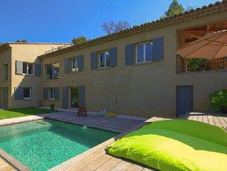 Villa avec piscine, golfe de St Tropez, 10 personnes, 5 chambres