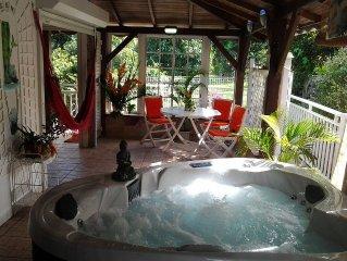 Le 'Petit Pavillon*** classe meuble de tourisme 3 etoiles  ' piscine -spa- wifi-