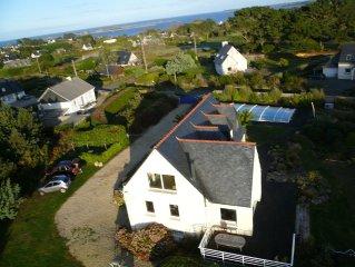 Belle maison  vue mer magnifique jardin amenage et piscine exterieure chauffee