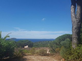 GIGARO - the BOUGAINVILLEES - MAS 2 bedrooms, terrace, sea view