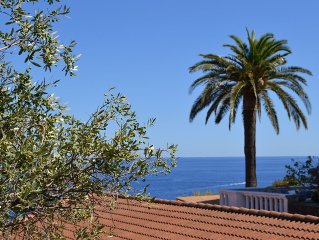 Agreable et tranquille villa vue mer, a 5 mn a pied de la plage et des magasins