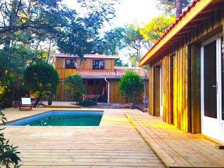 Villa Cap Ferret avec piscine entre Ocean et  Bassin d Arcachon