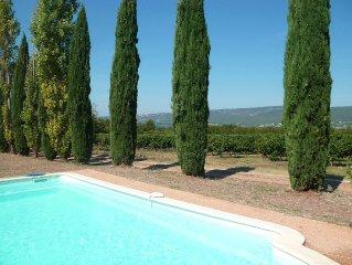 Gite 'Le Luberon' entoure de vignes vue sur les monts de Vaucluses