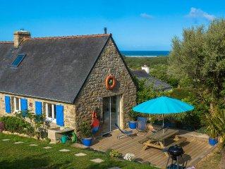 Vue mer, maison en pierre entre crozon camaret, Wifi, jardin clos, lumineuse