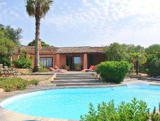 Bonifacio, Maison avec piscine, jolie vue sur le golfe de Sant'Amanza