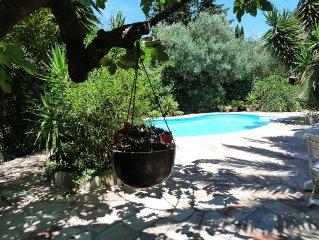 T6 villa garden 1600m2 private pool near the sea calm
