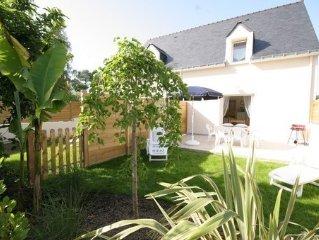 Maison  grande terrasse plein sud au coeur du golfe du Morbihan , jardin clos