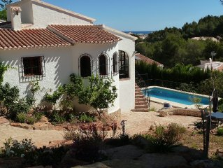 Villa, piscine, vue sur mer, pres plage Javea, 6 personnes
