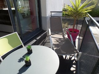 T3 luxury. Beach, city center on foot. Terrace, balcony and parking. WIRELESS