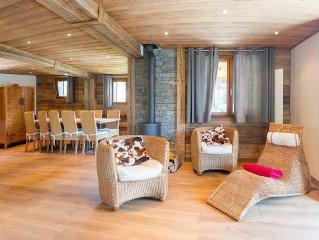 Chalet pour 12 personnes situe a 650m du centre et 700m des pistes de ski