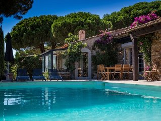 Sainte Maxime - Charming Villa, 4 to 10 pers. Stunning sea view and pool