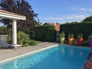 Maison Ossature Bois, typique du Bassin, avec piscine chauffée, Classée 5 *