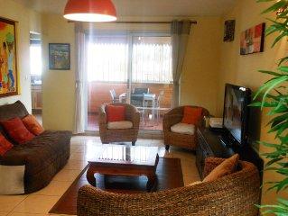 Ermitage a 200m du lagon grand appartement F2 de 60 m2 proche toutes commodites