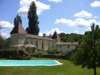 Moulin du 14° siécle piscine chauffée prés de St Emilion ,Bordeaux,Dordogne.