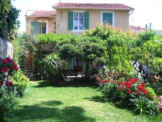 A2 pas de la mer appart 80 m2 etage de villa,3 chambres,terrasse, jardiven