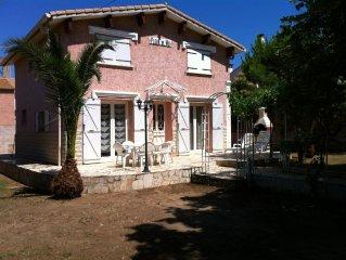 maison de charme avec jardin clos, proche plage, 6 personnes, 3 chambres