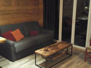 On the slopes, apartment of 60 sqm, 2 chs, sleeps 6-8