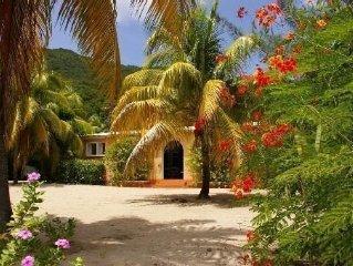 Villa Creole and coconut garden located on the beach of Grande Anse. WIFI
