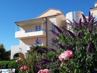 Appartement avec balcon Plein Sud face a l'Ocean , WIFI
